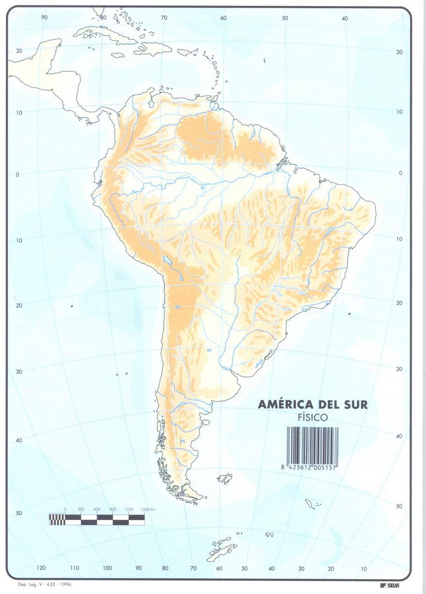 Tablon de anuncios » Mapa fisico America del Sur